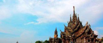Храм в Таиланде на берегу океана