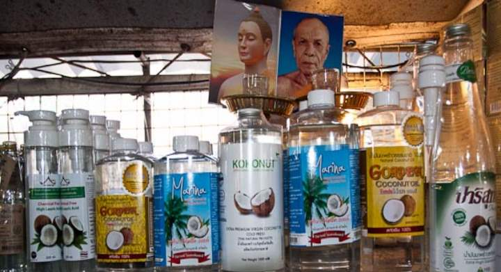 Баночки с маслом кокоса