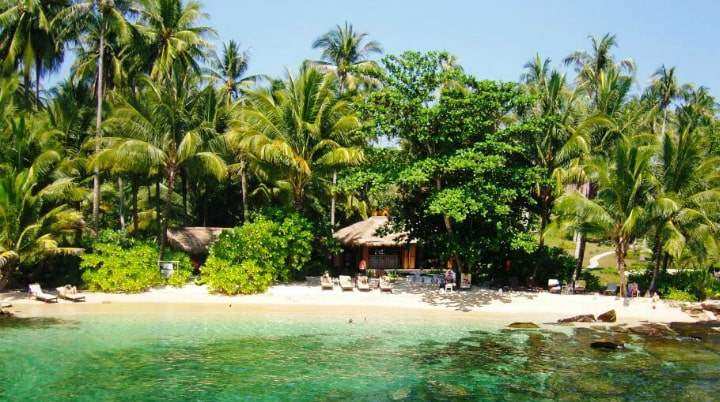 Вид острова в Тайланде