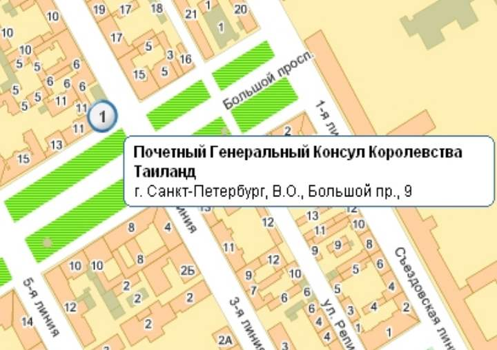 На карте консульство в Питере