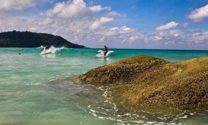 Океан и серферы