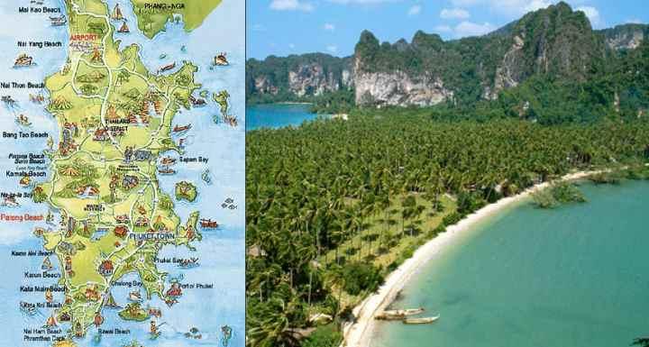 В картографическом обозначении превалируют музеи для визита - Тай Хуа, Таланг, Ракушек