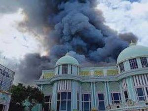 К счастью, во время пожара нет жертв
